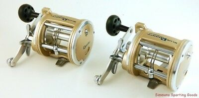 *(Lot Of 2) Quantum Blue Runner Gold Brgt40 4.4:1 Gear Ratio Conventional Reel