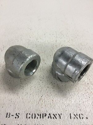 """Forged Steel 90 Elbow 1.5"""" 3000# THREADED GALVANIZED A105"""