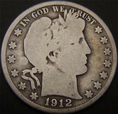 1912-S Barber Half Dollars - All Major Details Are Well Outlined