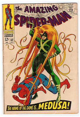 Marvel The AMAZING SPIDER-MAN # 62; JULY 1968; VG+; OVERSTREET $25.00