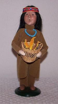 Byers Choice - Thanksgiving - Native American Indian Holding Basket of Corn