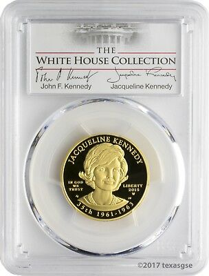 2015-W $10 Jacqueline Kennedy PCGS PR70DCAM First Strike White House Collection