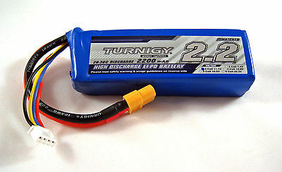 TURNIGY Lipo Battery 3S 25C-35C 2.2A 2200mAh 11.1v Lithium Polymer 3 Cell A2