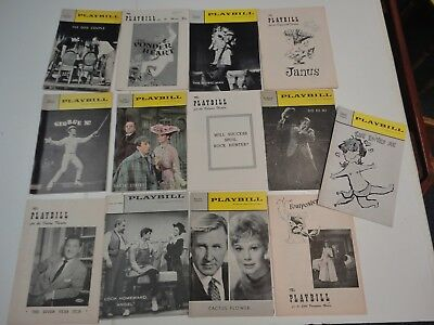 Large lot of 52 vintage Broadway Theater Playbills - 1950s and 1960s