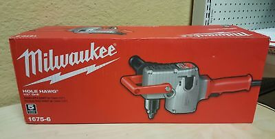 NEW Milwaukee Hole Hawg 7.5 Amp 1/2-Inch Right Angle Joist Stud Drill 1675-6