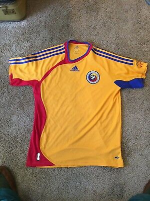 Romania National Soccer Team Adidas Jersey Adult Size Medium