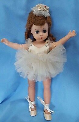 "Vtg Mme Alexander Doll Red Head Lissy Ballerina 12"" 1956-58 To Restring M-Joint"