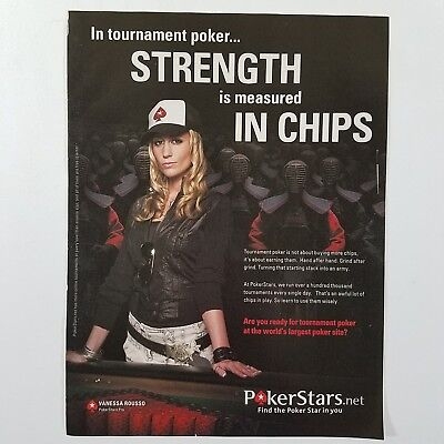 Print Ad Vanessa Rousso Poker Star Big Brother Season 17
