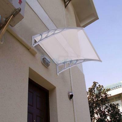"""Patio Door Canopy Roof Shelter Awning Shade Rain Cover Porch Front Back 40""""x30"""""""