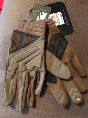 Under Armour 1242620 Men's Coyote UA Tactical Padded Knuckles Duty Gloves - Sz S