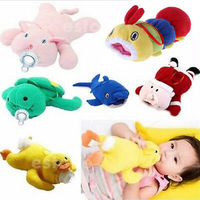 Baby Cartoon Soft Feeding Milk Bottle Plush Pouch Covers Keep Warm Holders