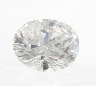 0.13 Carat I Color SI2 Oval Enhanced Natural Loose Diamond 3.79X2.95mm