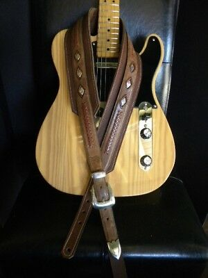 Handmade Western Leather Guitar Strap Outlaw Series
