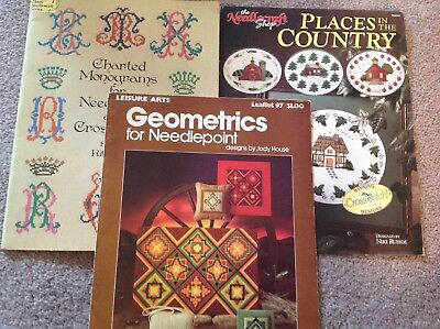 Embroidery Needlework Books lot
