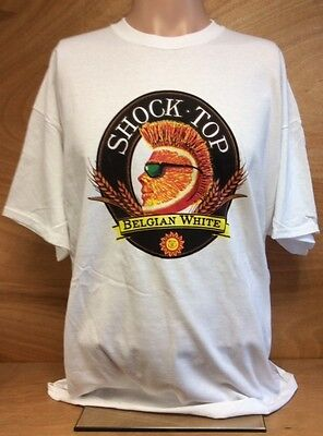 Shock Top Beer Belgian White T Shirt ~ Size XL 100% Cotton ~ NEW & FREE SHIPPING