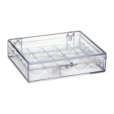 Hemline Clear Plastic Bobbin Box/Case Storage Holds 25 Bobbins - Sewing / Craft