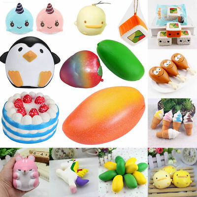 Collection Realistic Jumbo Soft Squishy Squeeze Slow Rising Squishies Charms Toy