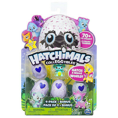 Hatchimals Colleggtibles 4-Pack Bonus Style Christmas Electronic Interactive Toy