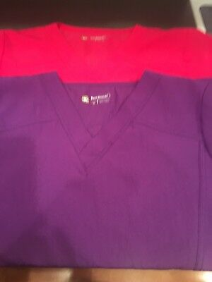 Wonder Wink Four Stretch Scrub Top Lot Size M Medium Lot Of 2
