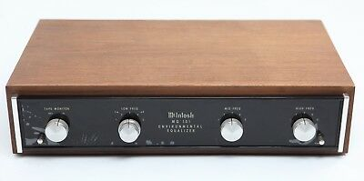 1975 McIntosh MQ-101 2-CH Stereo Environmental Equalizer w/ Wood Cabinet Case