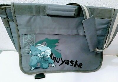 Inuyasha Messenger Laptop Bag Embroidered Black Grey W/ Graphics