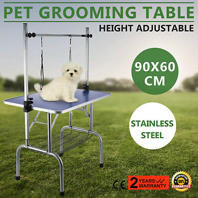 36 Portable Pet Dog Grooming Table Adjustable H Loop 2 Arm Non Slip Tabletop