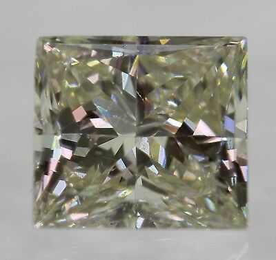 Certified 0.59 Carat J VVS2 Princess Enhanced Natural Diamond 4.9X4.58mm 2VG