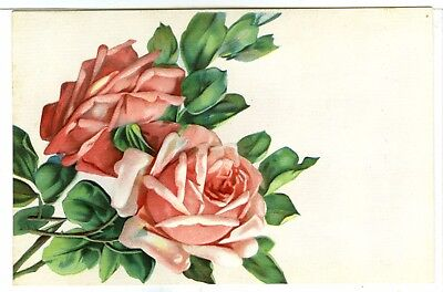 1 of 3 Embossed and Textured Card, Pretty Stem of Pink Roses....