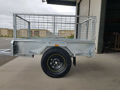 Off Road trailer, inc 600mm Cage, 7x4, Heavy Duty, galvanised checker plate, New