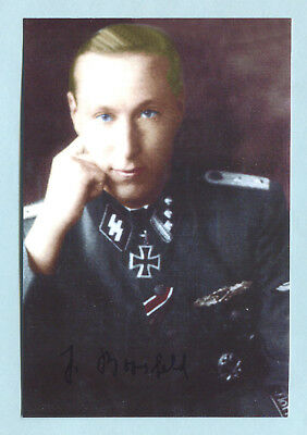 """Florian Geyer"" Kav Knights Cross Signed Pic - Boosfeld"