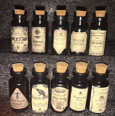 Small Potion Bottles Harry Potter Knockturn Alley Decoration Prop Dark Magic Art