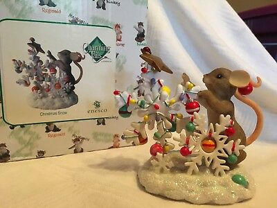 """Charming Tails """"CHRISTMAS SNOW"""" SIGNED BY DEAN GRIFF NIB"""