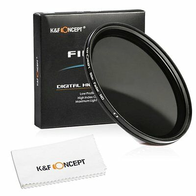 K&F Concept® 49mm Slim Fader Variable ND Neutral Density Adjustable ND2 to Lens