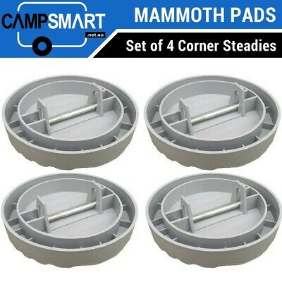 Caravan Jack Pads Corner Steadies, Big Foot Stabilizer Legs / RV Mammoth Pads