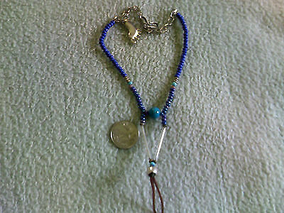 Royal Blue Barefootin' Anklet w/Double Hooks