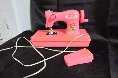 The Cover Girl Pink Toy Sewing Machine Made In Hong Kong Circa 1960's