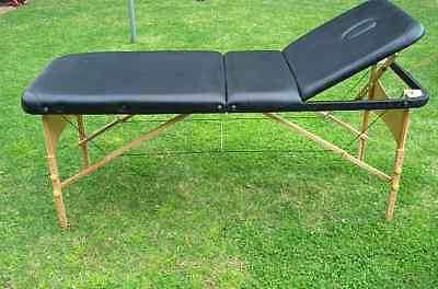 Wooden Portable Massage Table 3 Therapy Bed Waxing 70cm Knox
