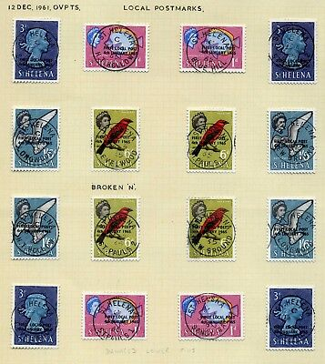 St Helena local postmarks selection rarely offered specialist material