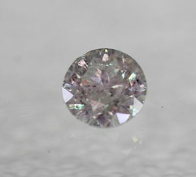Certified 0.49 Carat F SI3 Round Brilliant Enhanced Natural Loose Diamond 5m 3VG