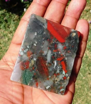 352 Cts 100% Natural Eclipse Blood Stone 72X57  Slice Loose Cabochon Gemstone