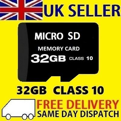32GB Micro SD Card Class 10 TF SDHC Flash Memory For Phone Tablet - 32G- UK