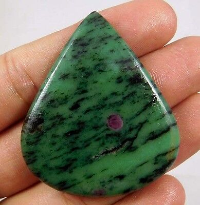 95 Cts.100% NATURAL RUBY ZOISITE LOOSE CAB GEMSTONE (AQ165)