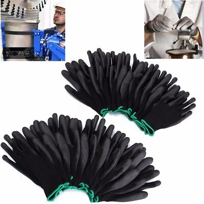 12 Pairs PU Coated Safety Gloves Work Gloves Hand Protection Builders Size S M L