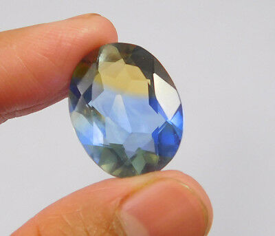 16 Cts. Treated Faceted Oval Shape Ametrine Cut Loose Cab Gemstone NG1947