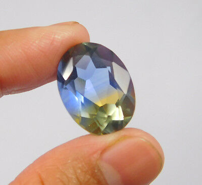 14 Cts. Treated Faceted Oval Shape Ametrine Cut Loose Cab Gemstone NG1951