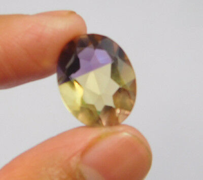 8 Cts. Treated Faceted Oval Shape Ametrine Cut Loose Cab Gemstone NG1969