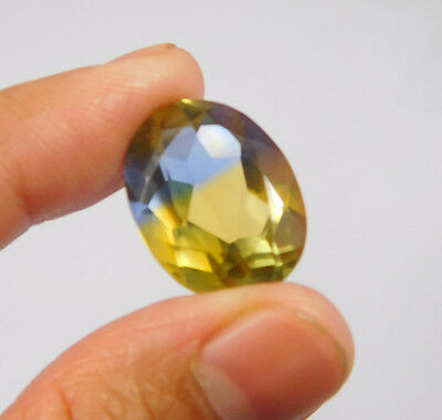 15 Cts. Treated Faceted Oval Shape Ametrine Cut Loose Cab Gemstone NG1954