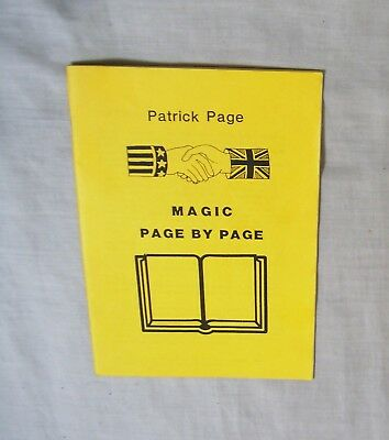 Magic Page by Page Lecture Note Small Booklet