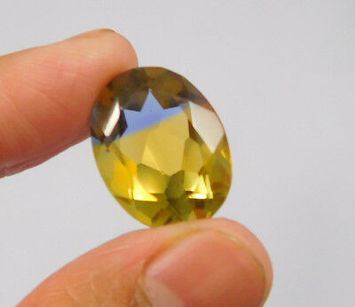 14 Cts. Treated Faceted Oval Shape Ametrine Cut Loose Cab Gemstone NG1955