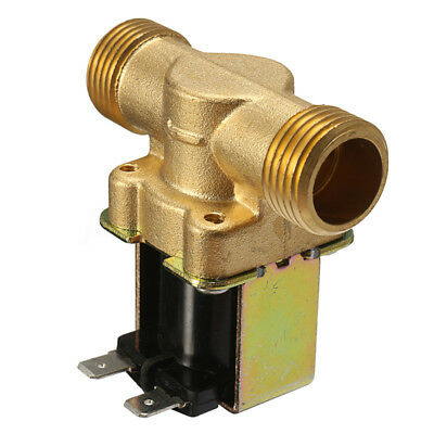 12V 1/2''2-Way Normally Closed Brass Electric Solenoid Valve For Air Water Oil